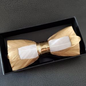 NEW Groom Metallic gold Feature Bowtie Bow tie